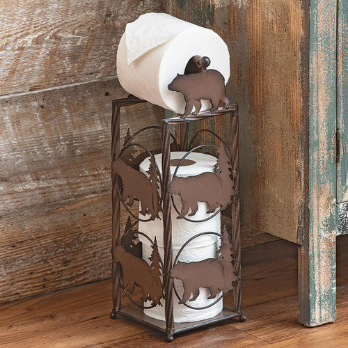 Pine Tree & Bears Toilet Paper Stand