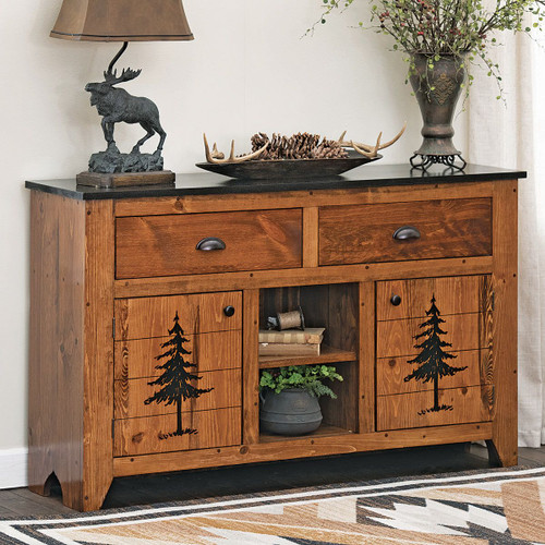 Pine Tree Console Table
