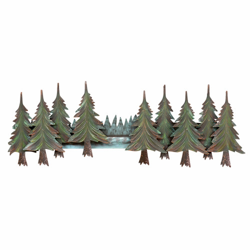 Pine Tree Forest Metal Wall Art