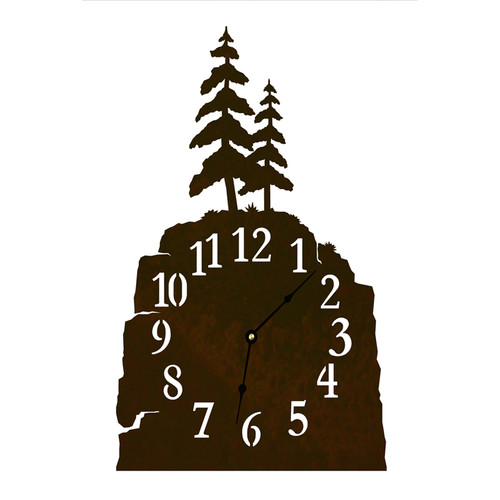Pine Tree Table Clock