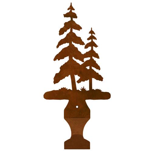 Pine Trees Small Drape Rod Bracket