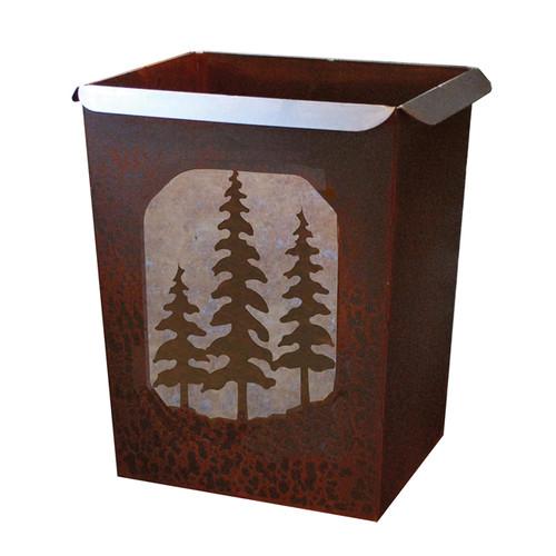 Pine Trees Waste Basket