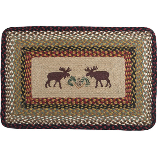 Pinecone & Moose Rug - OUT OF STOCK UNTIL 11/18/2021