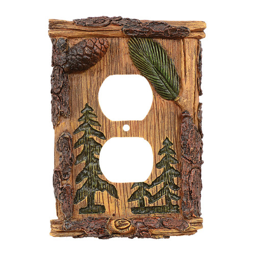 Pinecone & Tree Outlet Cover