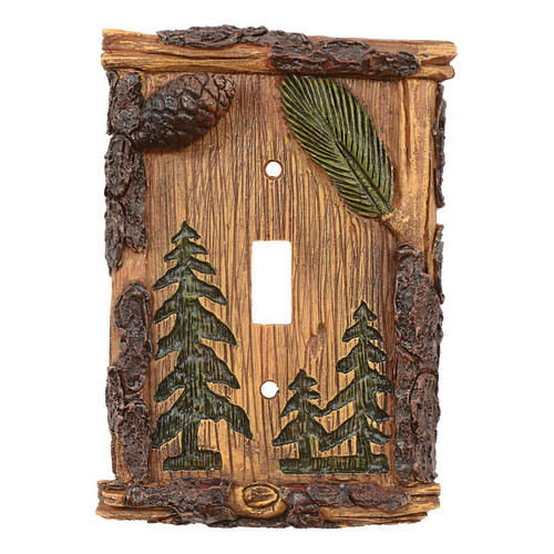 Pinecone & Tree Single Switch Cover