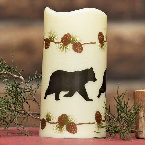 Pinecone Bear LED Candle