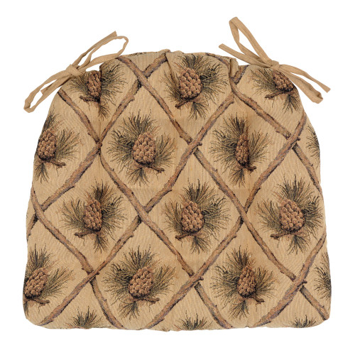 Pinecone Beige Chair Pad
