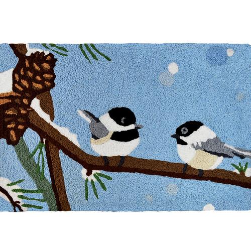 Pinecone Birds Indoor/Outdoor Rug
