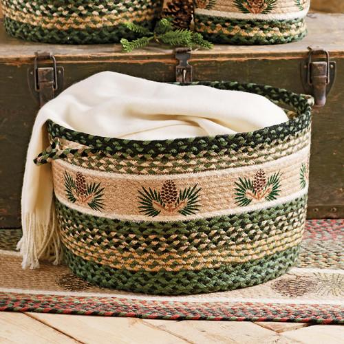 Pinecone Braided Utility Basket - Large