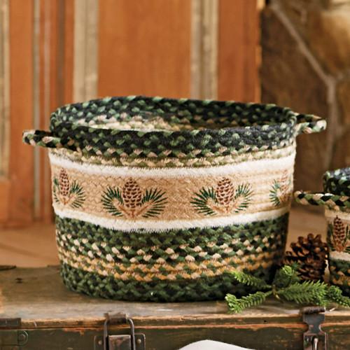 Pinecone Braided Utility Basket - Medium