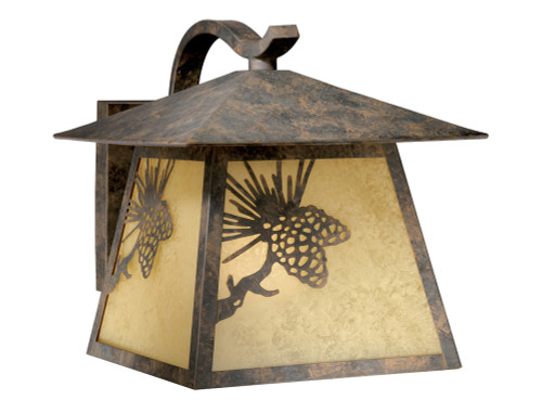 Pinecone Cabin Outdoor Wall Lamp - Large