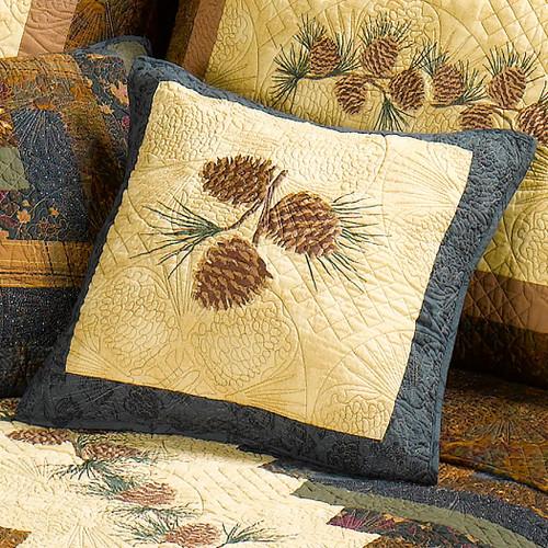 Pinecone Diamond Accent Pillow