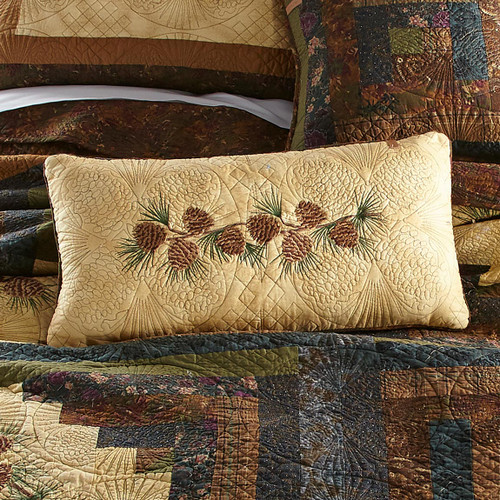 Pinecone Diamond Rectangle Pillow