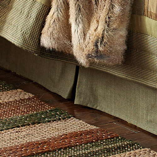 Pinecone Forest Bedskirt - King