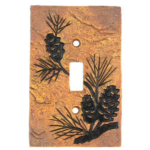 Pinecone Forest Stone Single Switch Cover