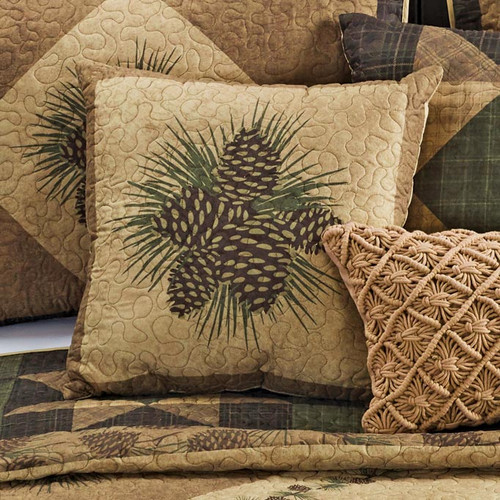 Pinecone Grove Pillow - BACKORDERED UNTIL 8/25/2021