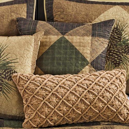Pinecone Grove Sawtooth Pillow