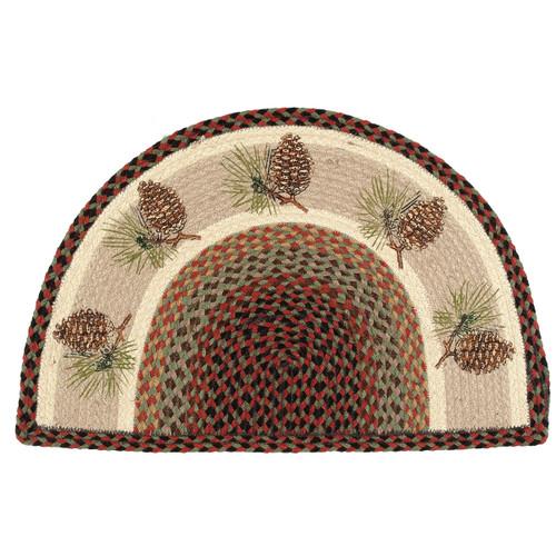 Pinecone Half-Round Braided Rug
