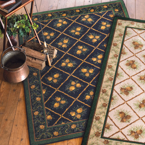 Pinecone Haven Green Rug - 5 x 8