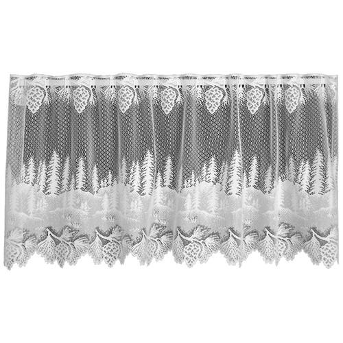 Pinecone Hollow White Window Tier - 60 x 24