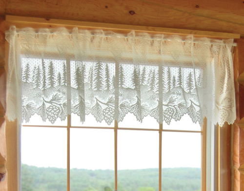 Pinecone Lace Valance - BACKORDERED UNTIL 9/10/2021