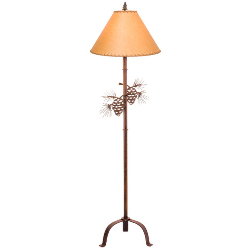 Pinecone Metal Art Floor Lamp