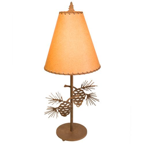 Pinecone Metal Art Table Lamp