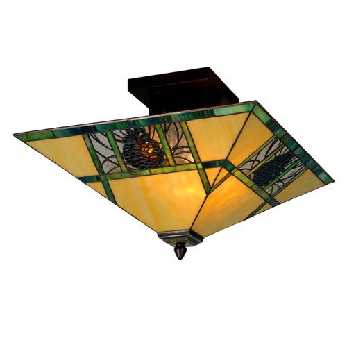 Pinecone Panes Flush Mount Light Fixture