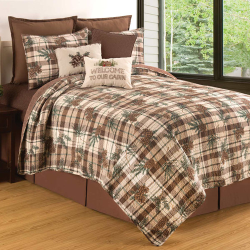 Pinecone Path Quilt Set - Twin