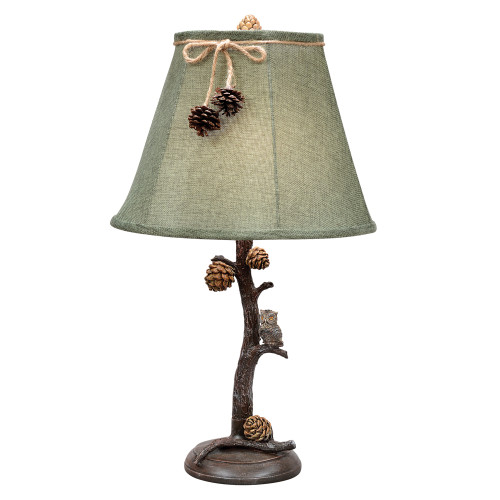 Pinecone Perch Table Lamp