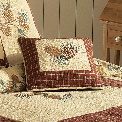 Pinecone Plaid Accent Pillow
