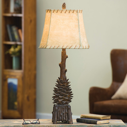 Pinecone Point Table Lamp