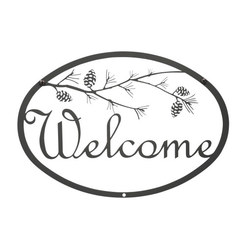 Pinecone Script Welcome Sign