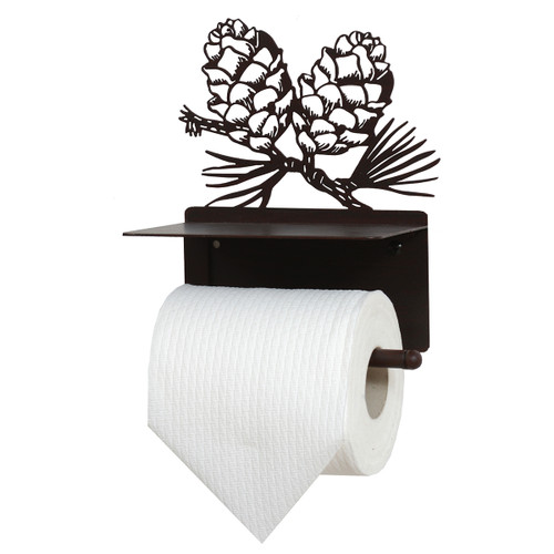 Pinecone Silhouette Metal Toilet Paper Holder