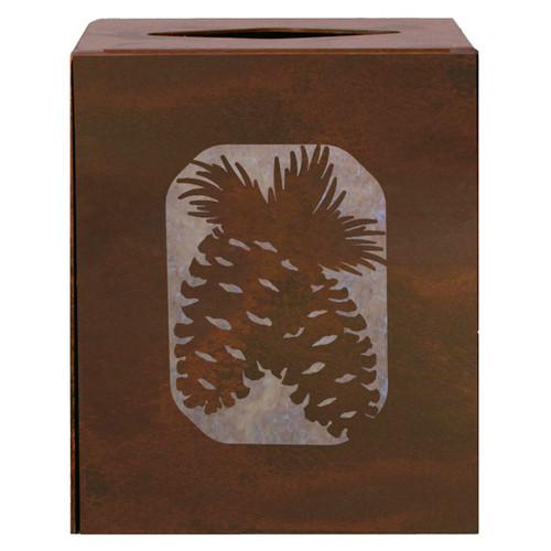 Pinecone Square Tissue Cover