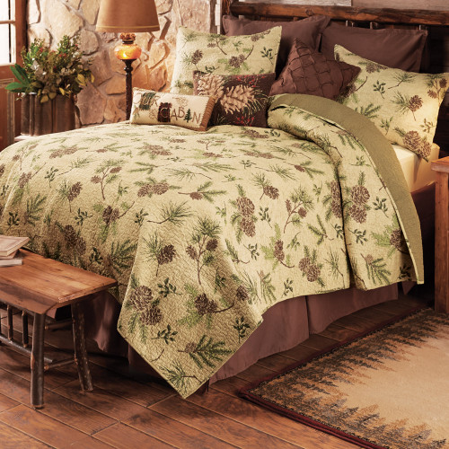 Pinecone ValleyQuilt Bed Set - King