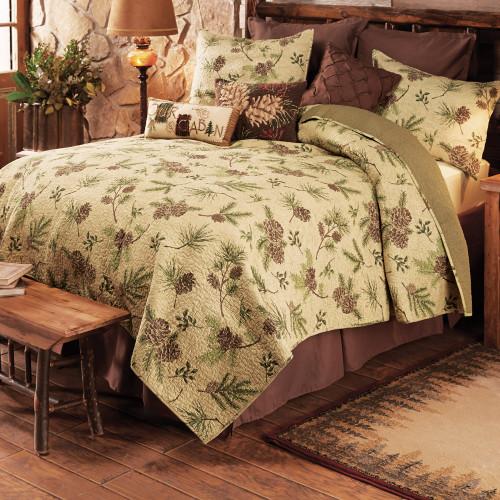 Pinecone ValleyQuilt Bed Set - Queen - BACKORDERED