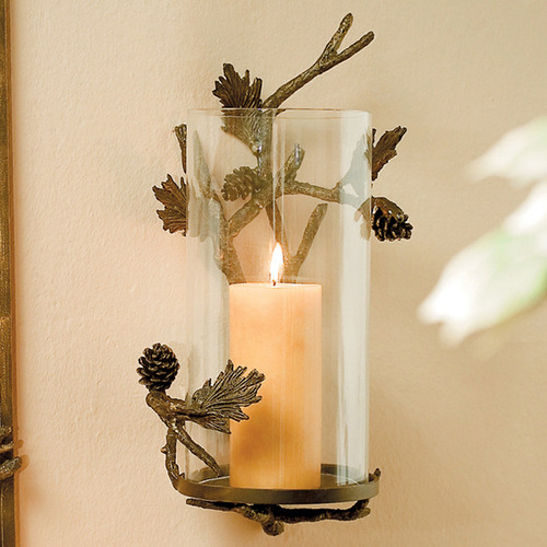 Pinecone Wall Candle Sconce
