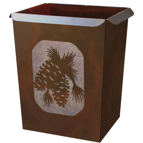Pinecone Waste Basket