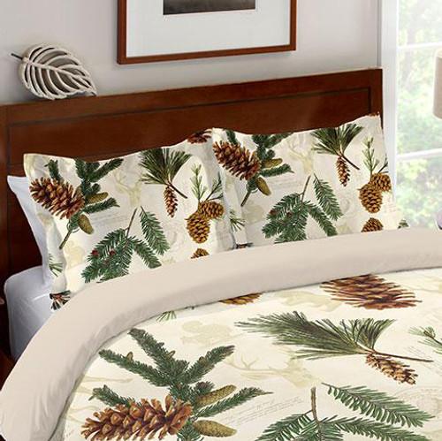 Pinecones and Wildlife Comforter Sham