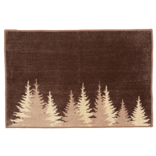 Pinewood Forest Bath Rug