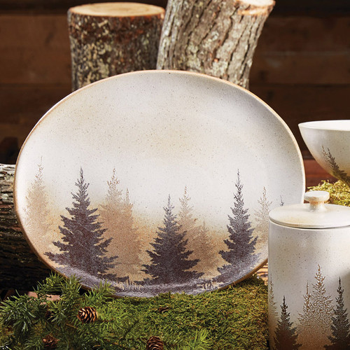 Pinewood Forest Serving Platter - OVERSTOCK