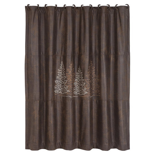 Pinewood Forest Shower Curtain