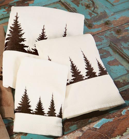 Pinewood Forest Towel Set - Cream