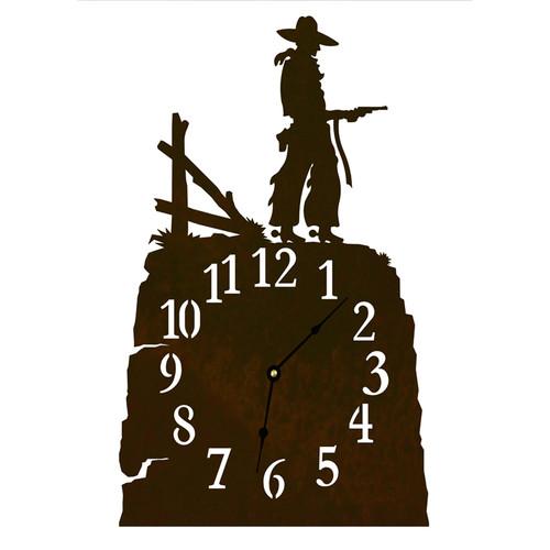 Pistol Cowboy Table Clock
