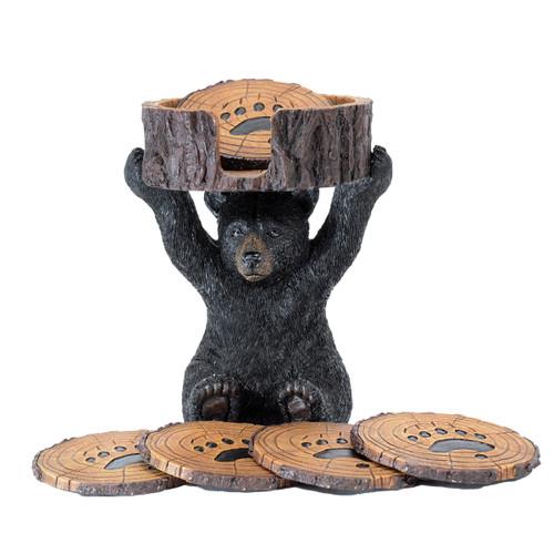 Playful Bear Cub Coaster Set