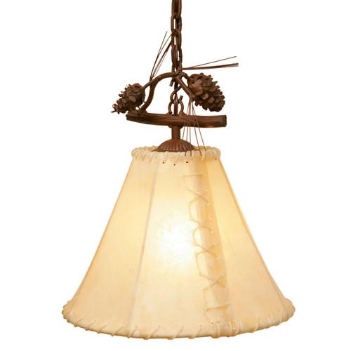 Ponderosa Pine Round Rawhide Single Anacosti Light
