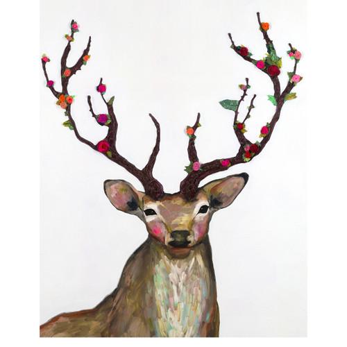 Posy Antler Deer Canvas Art