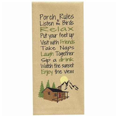 Porch View Dishtowels - Set of 6