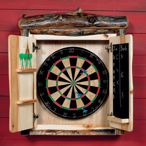 Log Dartboard Cabinet